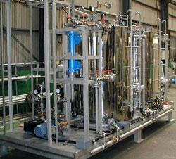 蒸気式温水製造プラント1